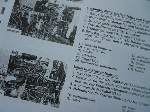 Service Manual In German