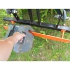 Max. load 150 kg - delivered without counterweight