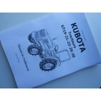 Operator's manual Kubota in French