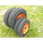 "Kit orange turf wheels 12 -16"" - narrow front tyres"